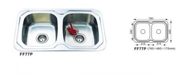 Kitchen Sink Double Bowl FF77P