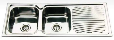 Kitchen Sink Double Bowl Single Drainer FK118S