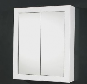 White Poly Door Shaving Cabinet