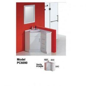 900x600mm Corner Vanity