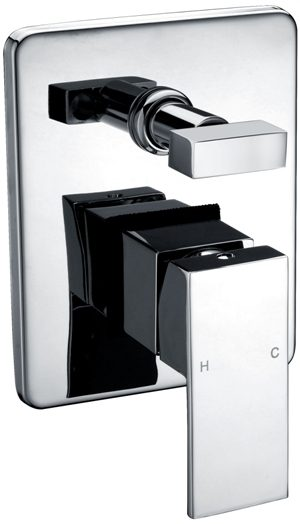 Square Bath/Shower Mixer With Diverter